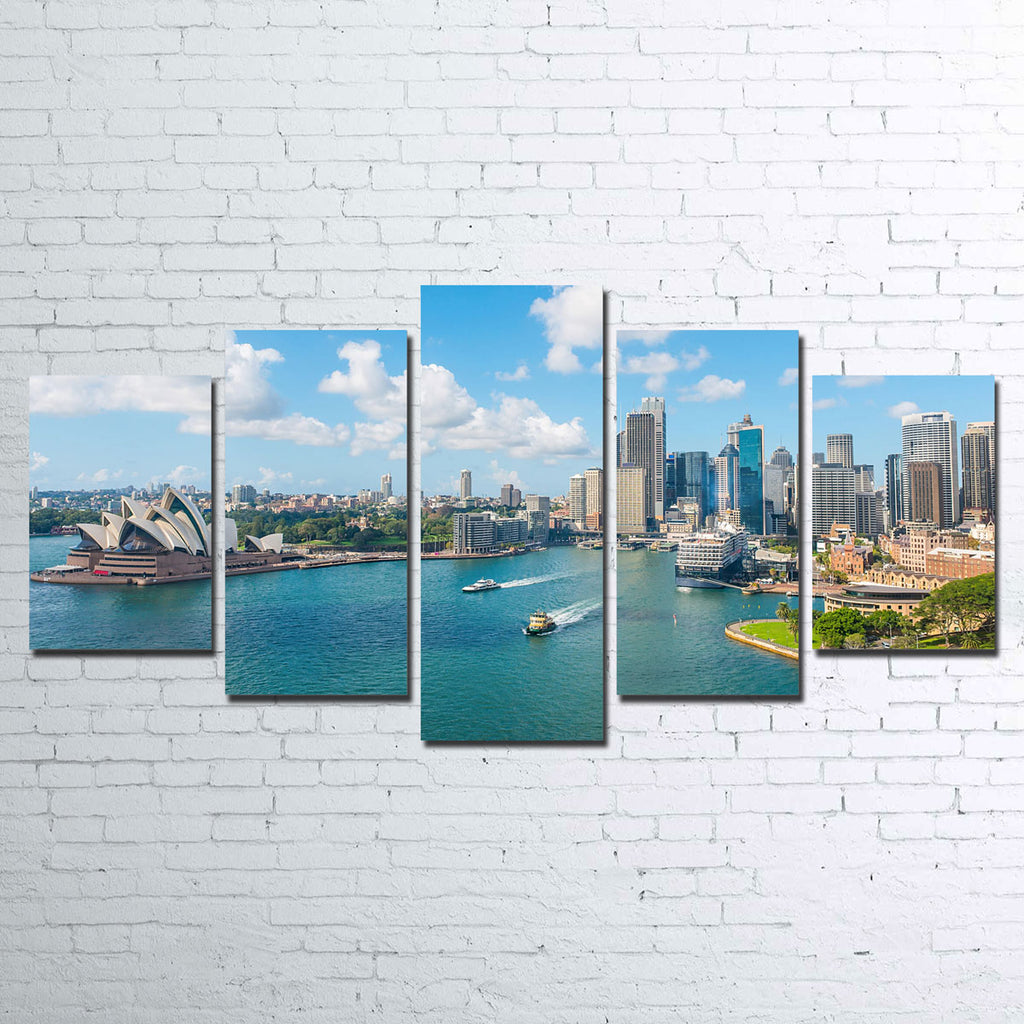 Sydney Skyline 5 Piece Canvas Set