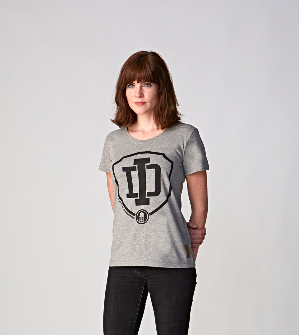 HEATHER GREY LOGO T-SHIRT D.O.I.