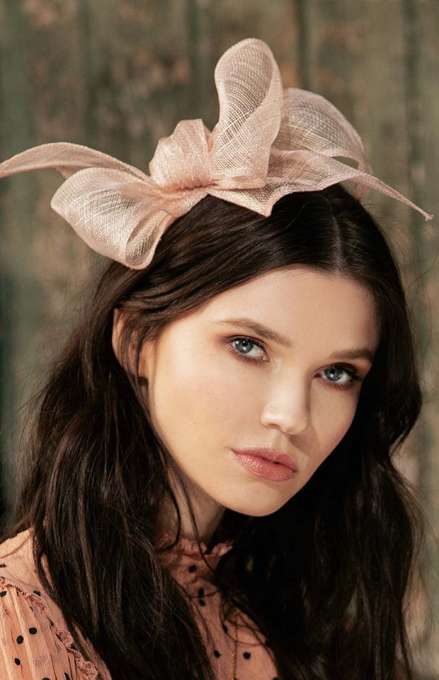 ADRASTEIA LINEN BOW FASCINATOR