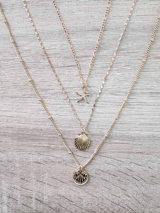 SHELLS LAYERED NECKLACE