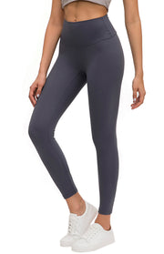 High Waisted Leggings - Lilac Grey