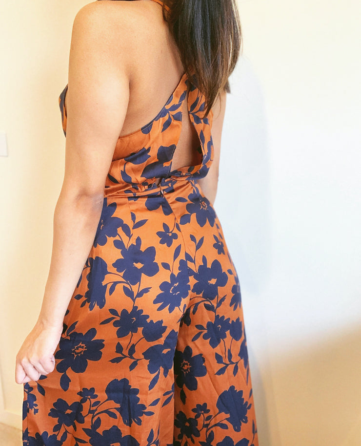 COPPER/NAVY JUMPSUIT