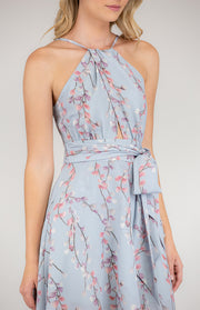 HALTERELLA PRINTED DRESS