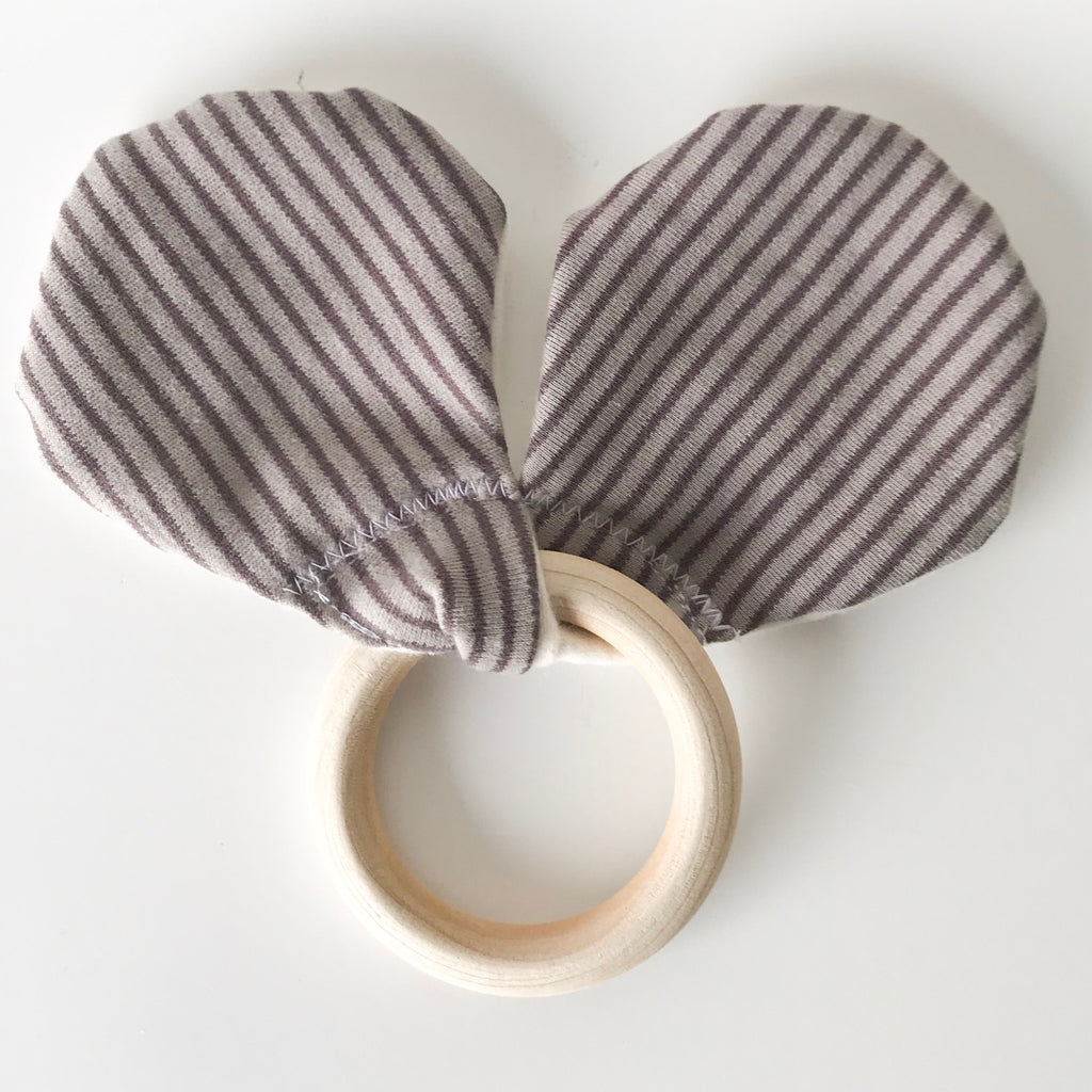 'MOUSE EARS' Organic Teething Ring
