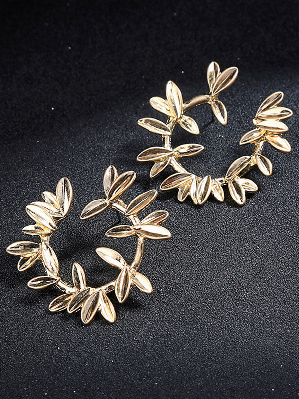Creative Gold Garland Pattern Earstud