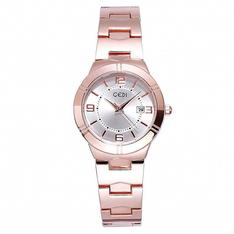 Numberal Scale With Calendar Women's Watch