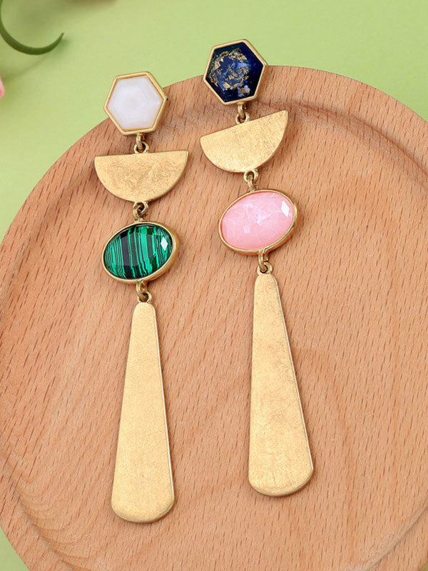 Irregular Geometric Long Earrings