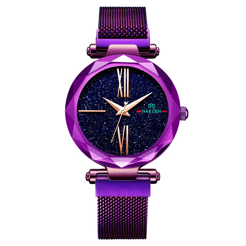 Starry Dial Magnetic Strap Women's Watch