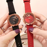 Retro Leather Strap Women's Watch