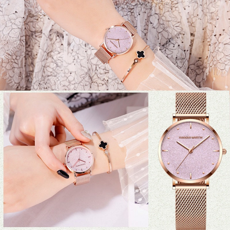 Starry Sky Dial Waterproof Women's Watch