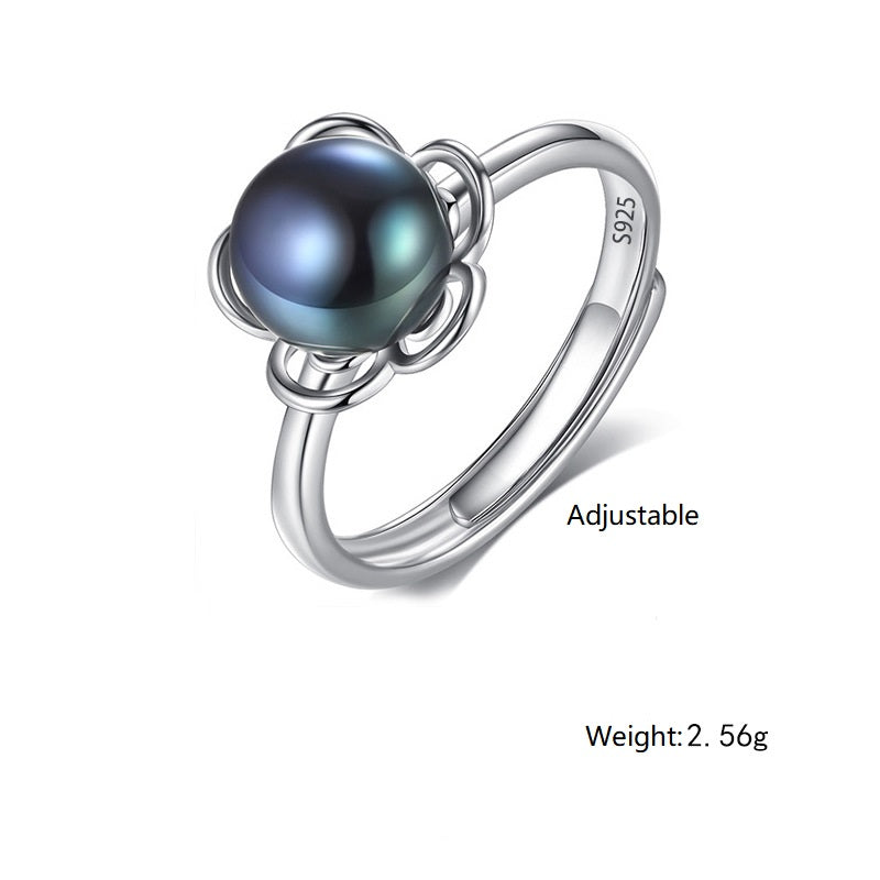 9-9.5mm Natural Pearl Adjustable Ring