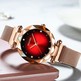 Irregular Frame Magnetic Strap Women's Watch