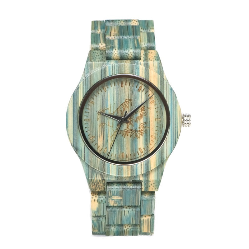 Colorful Strap Women's Wooden Watch