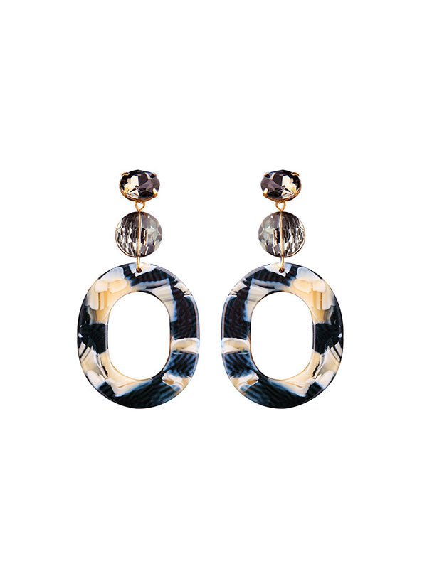 Exaggerated Large Circle Acrylic Earrings