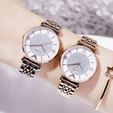 Women's Watch quartz large dial Personality Gypsophila Stainless Steel Strap simple watch