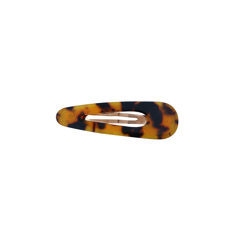 Geometric Pattern Leopard Resin Hair Clip
