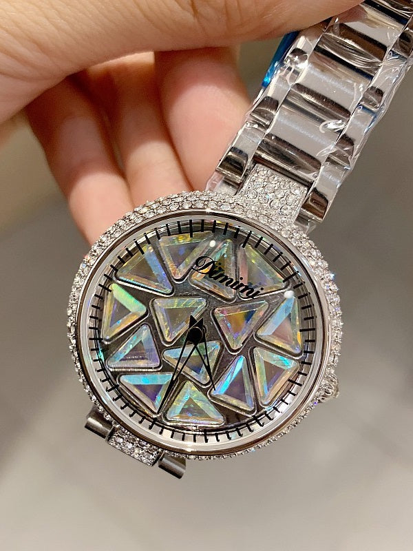 Shining&Colorful Triangle Pattern Women's Watch