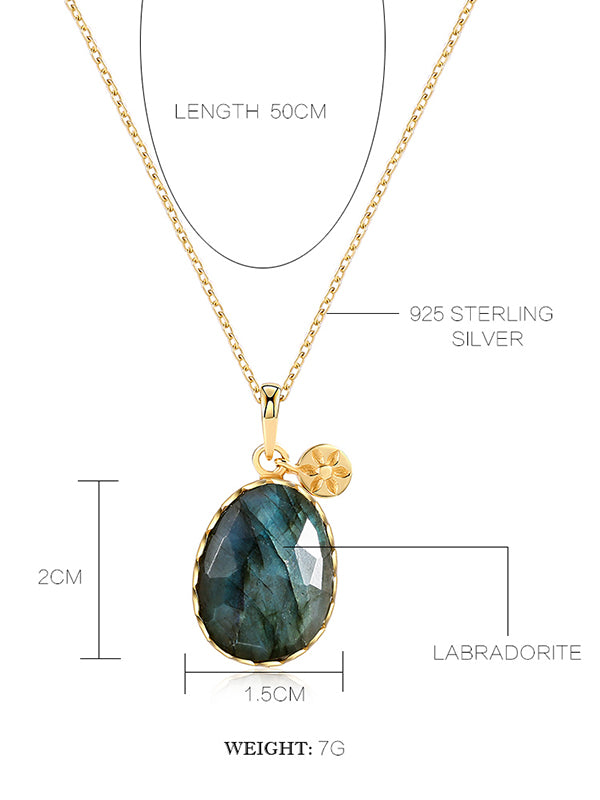 Shining Labradorite Necklace