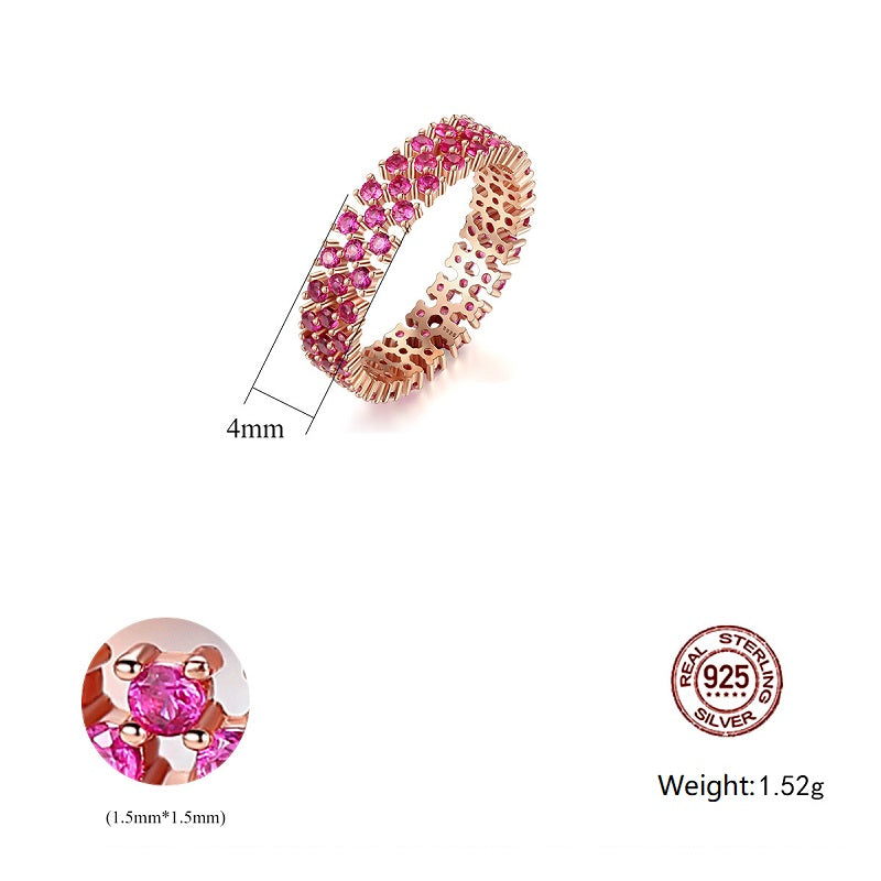 Rose Red Women's Ring
