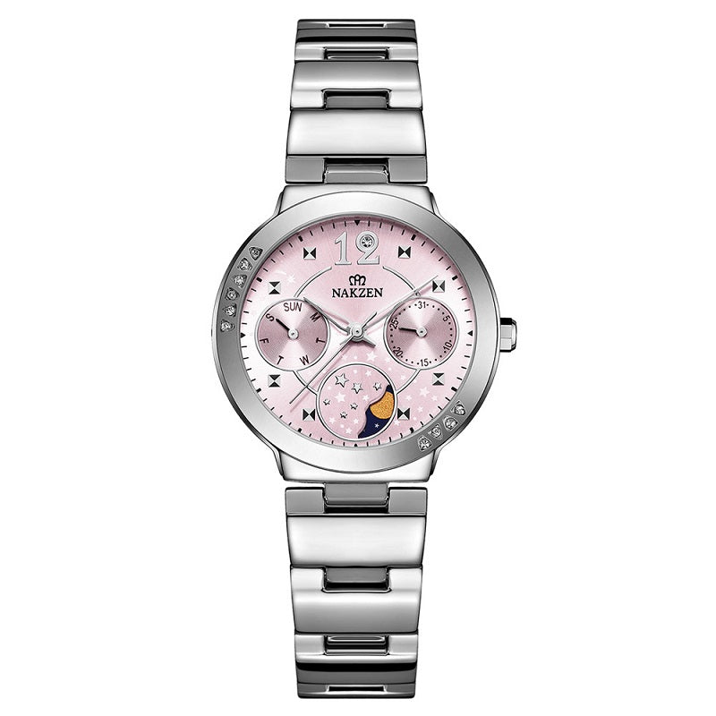 Three Eyes Six Pointers Dial Women's Watch