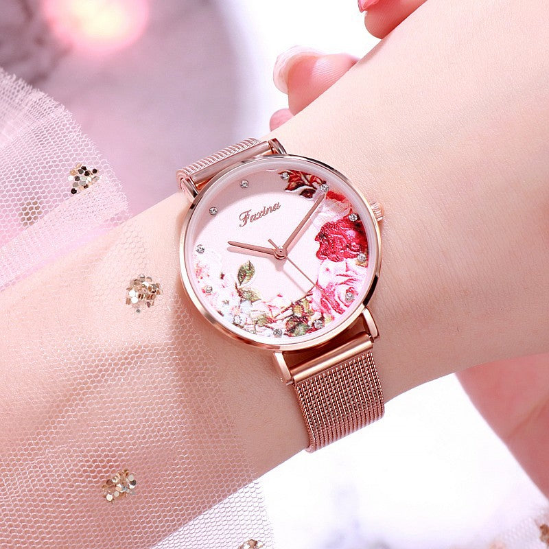 Rose&Penoy Flower Dial Women's Watch