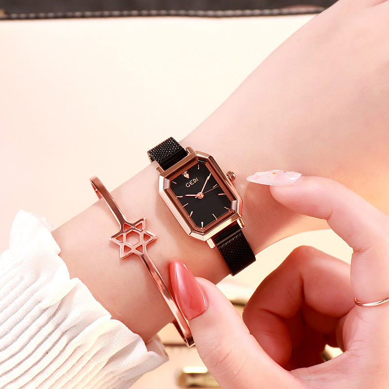 Square Mesh Strap Leisure Women's Watch
