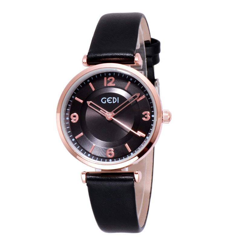 Simple Quartz Women's Watch With Scale