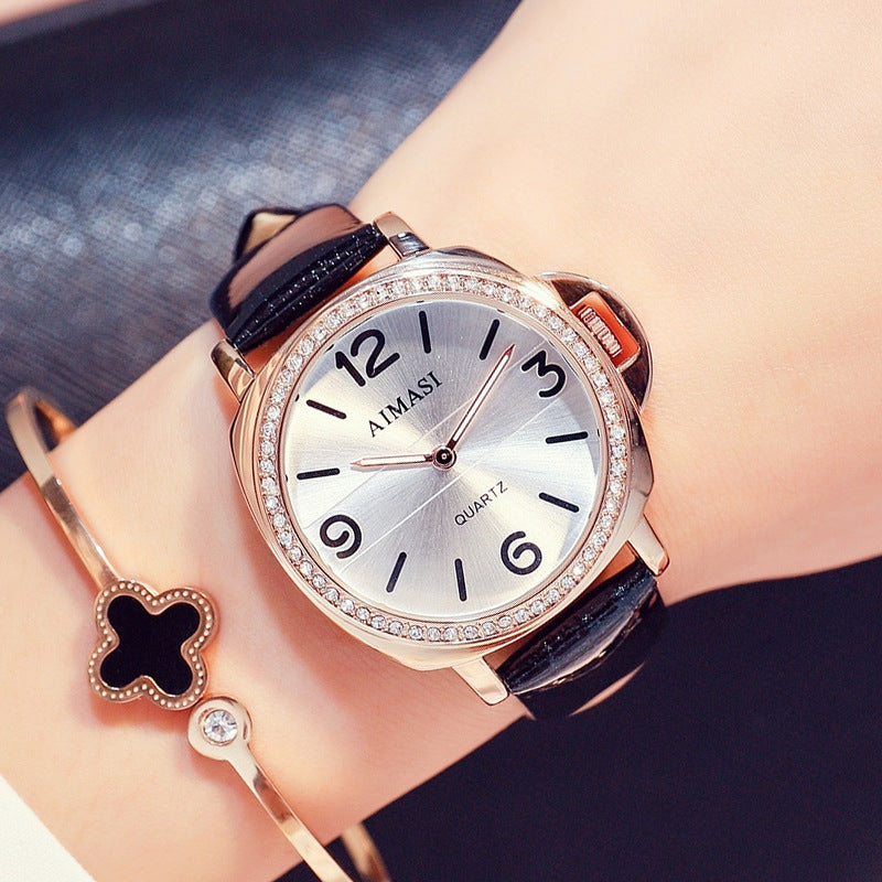 Irregular Round Frame Women's Watch