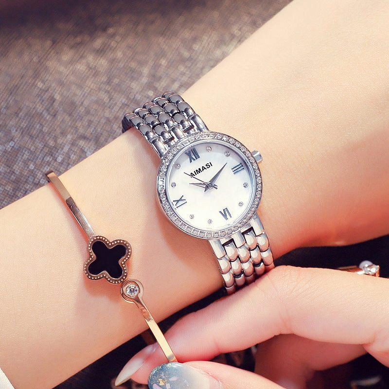 Small&Simple Diamond-inlaid Women's Watch