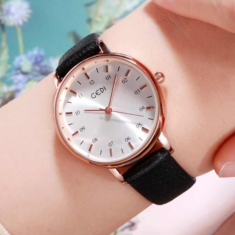 Simple Numberal Scale Women's Watch