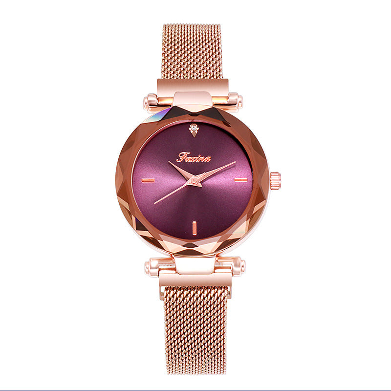 Simple Dial Quartz Women's Watch