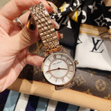 Diamond-inlaid Stainless Steel Women's Watch