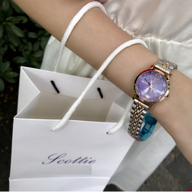 Irregular Mirror Stainless Steel Women's Watch