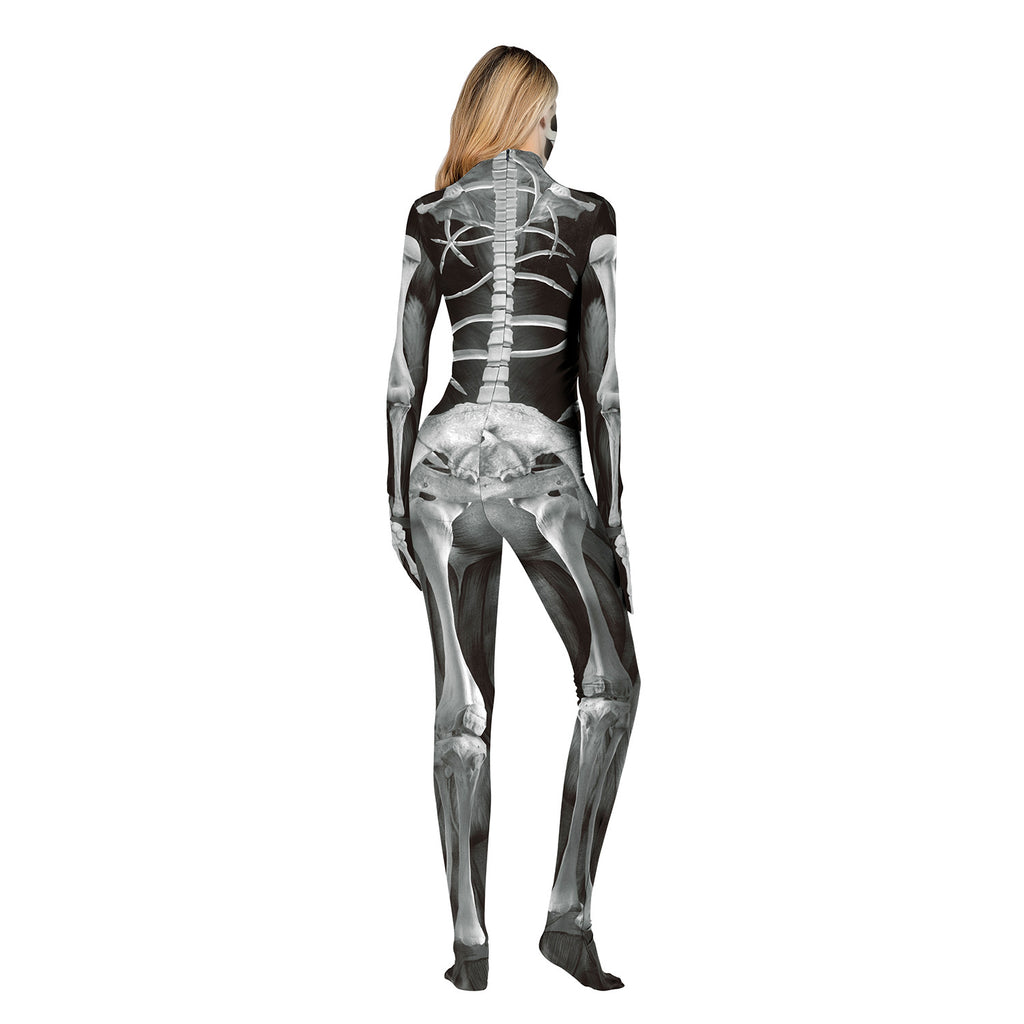 3D Digital Print Skeleton Costume
