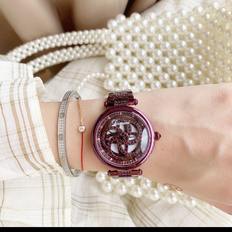 Rotatable Hollow Women's Watch