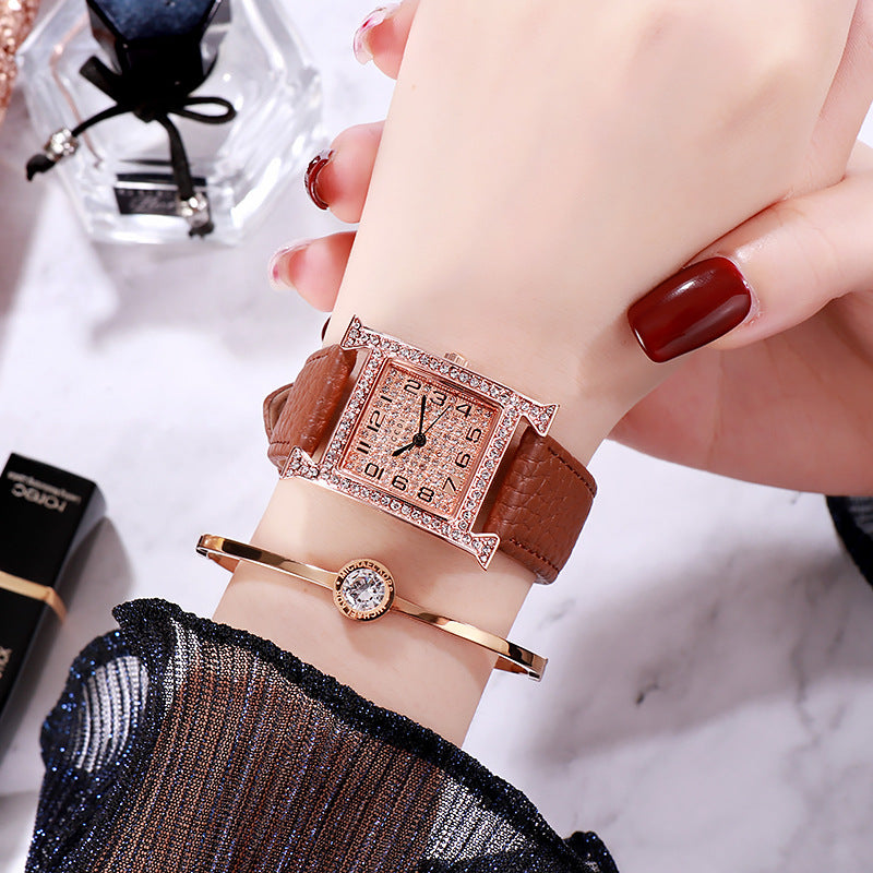Vintage Square Dial Women's Watch