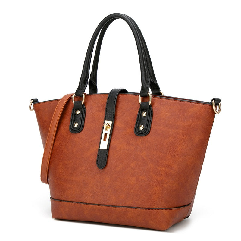 Solid Color Tote Handbag