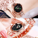 Irregular Mirror Ultra-thin Strap Women's Watch