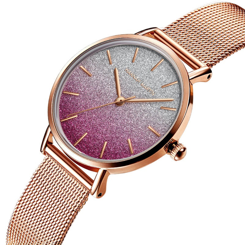 Gradient Dial Women's Watch