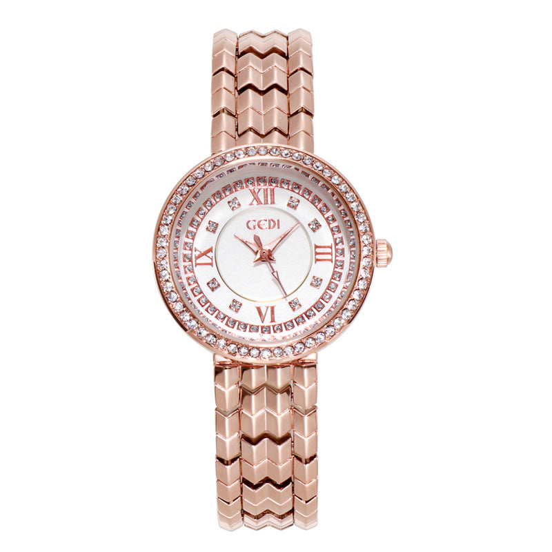 Large Round Dial Women's Watch