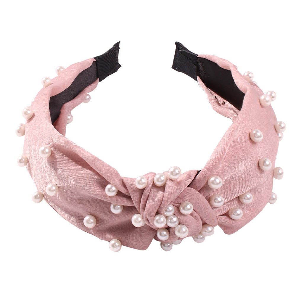 Imitation Pearl Widen Headband