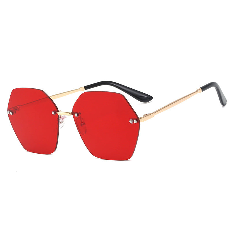 Polygon Metal Frame Sunglasses