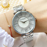 Women's Watch Personality Quicksand Dial stainless steel strap elegant watch