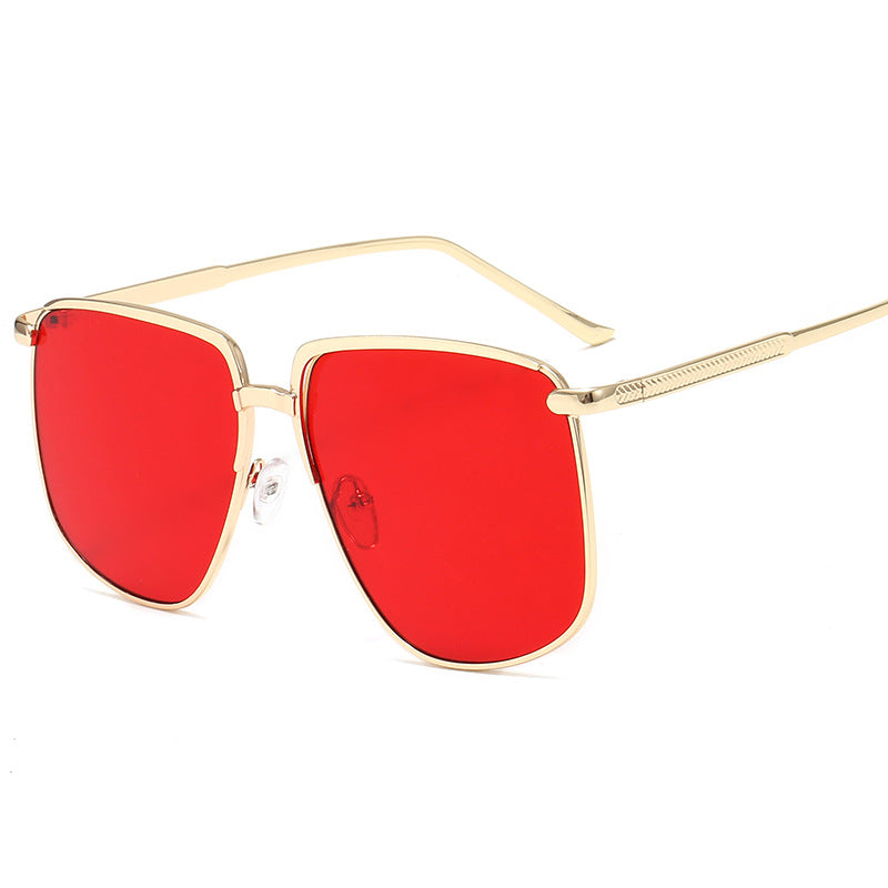 Retro Round Large Frame Sunglasses