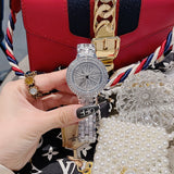 Women's Watch Rotatable Dial Full of Diamond stainless steel strap elegant watch