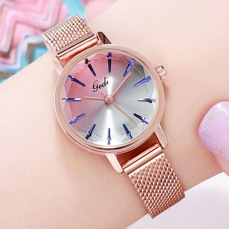 Fashion Gradient Dial Quartz Women's Watch