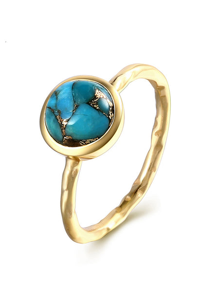 Sterling Silver Inlaid Turquoise Ring