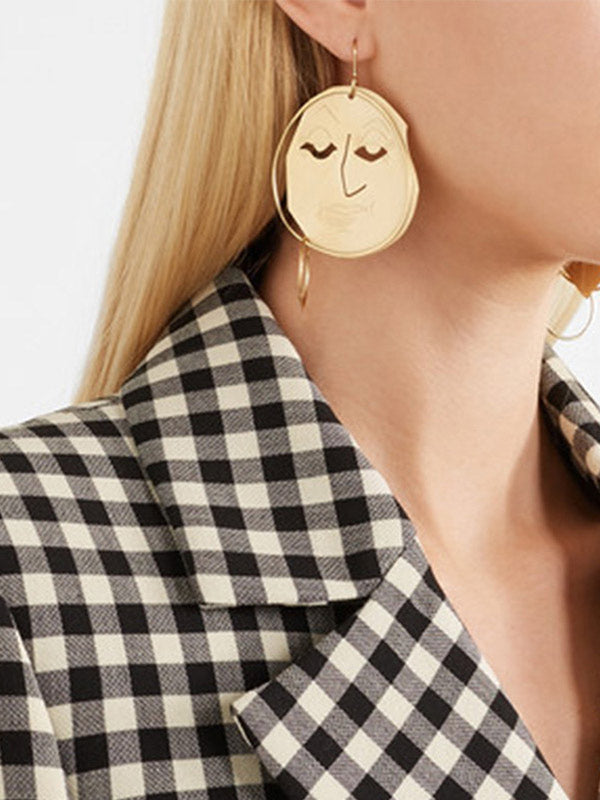 Big face earring