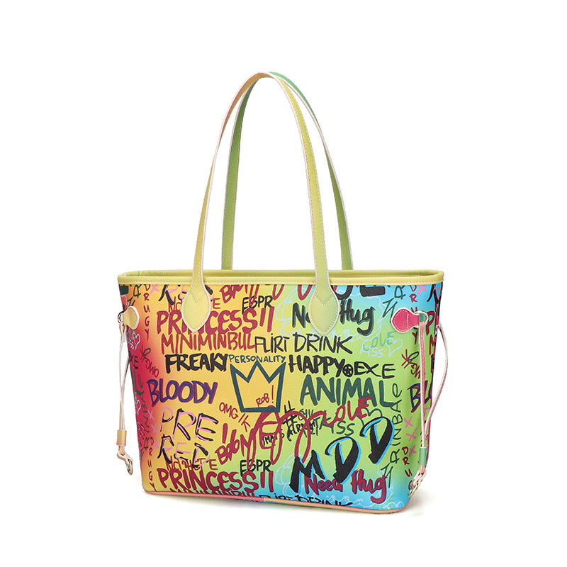 Large Capacity Graffiti Handbag