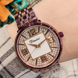 Women's Watches Gold Diamond Large Dial Stainless Steel Strap elegant watch